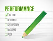 Excellent Performance Review Illustration Design