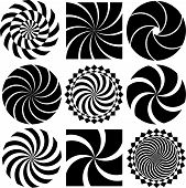 Vector Optical Art in Black and White