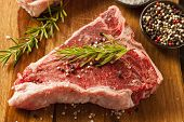stock photo of ribeye steak  - Thick Raw T - JPG