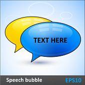 Speech bubbles dialogue vector elements