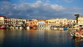 Old Venetian Harbour In City Of Rethymno, Crete, Greece