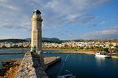 Old Lighthouse And View On City Of Rethymno, Crete, Greece