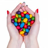 Woman Hands Holding Candy