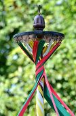 maypole with twisted ribbons