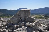 pic of landslide  - Large boulders from the Frank Slide in the Rocky Mountains in Alberta Canada - JPG