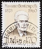 ITALY - CIRCA 1979: stamp printed in Italy shows Massimo Bontempelli (1878 - 1960), Italian journali
