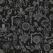 Seamless sea plankton pattern