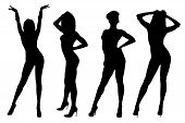 Dancing Girls Silhouette