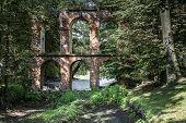 Old Aqueduct Built Of Brick In Arkadia