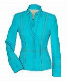 stock photo of jupe  - blue jacket - JPG
