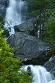 Waterfall And Stones