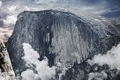 foto of granite dome  - Half Dome is a Granite Dome in Yosemite National Park California USA - JPG