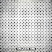 Metal white vector grid