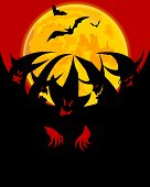 pic of covenant  - coven on red black background vector illustration - JPG