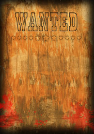 stock photo of wild west  - Template for an inscription search the person as a background - JPG
