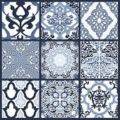 picture of lace-curtain  - Decorative colorful seamless pattern in mosaic ethnic style - JPG