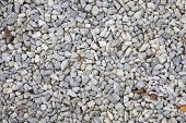 Pebbles allover background, outdoors