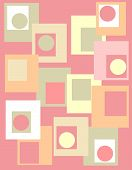 Retro Design With Shapes In Pink