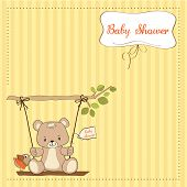 Baby Greeting Card With Teddy Bear