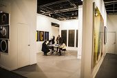 MADRID, SPAIN - 19 FEBRUARY 2014.Sculpture.Begins 2014 ARCO, the International Contemporary Art Fair