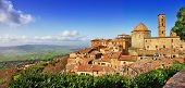 beautiful old Volterra - medieval town of Tuscany, Italy