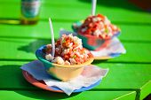 image of conch  - Two bowls of Bahamian conch salad - JPG