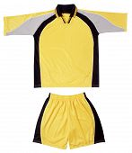 Grey, Black Yellow Sports Uniform