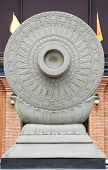 The Wheel of the Law, symbolic of Buddhism