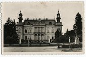 ZWITTAU, CZECH REPUBLIC - CIRCA 1900s: An antique photo shows City Hall building