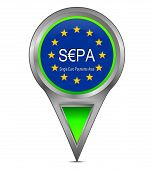 map pointer with SEPA - Single Euro Payments Area