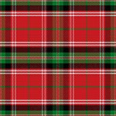 Vector Seamless Pattern Scottish Tartan Stewart