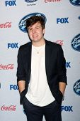 LOS ANGELES - FEB 20:  Alex Preston at the American Idol 13 Finalists Party at Fig & Olive on Februa