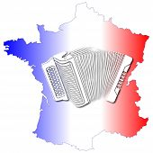 image of accordion  - The France  blue - JPG