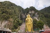 Lord Murugan Statue At Batu Caves