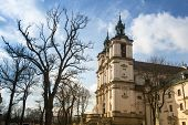 View of the Church of St. Stanislaus Bishop in Krakow.