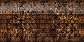 Conceptual media background image with binary code