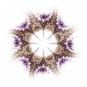 Violet And Brown Fractal Flower Pattern