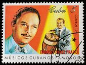 CUBA - CIRCA 1999: A stamp printed in cuba dedicated to famous Cuban musicians, shows Damaso Perez Prado, circa 1999