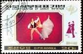 DPR KOREA - CIRCA 1989: A stamp printed in DPR KOREA shows the chamo system of dance notation, circa