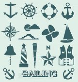 Vector Set: Sailing Icons and Symbols