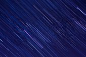 Abstract background with, Orion star trails in the night sky