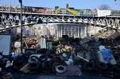 KIEV, UKRAINE - February 21, 2014: Ukrainian revolution, Euromaidan. Manifestation after an attack by government forces.