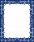picture of scrollwork  - Repeating blue and white floral scrollwork border - JPG