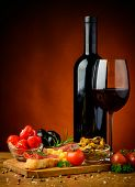 Spanish Tapas And Red Wine