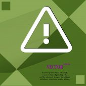 danger. exclamation mark.  Flat modern web design on a flat geometric abstract background