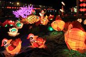 Traditional Chinese lanterns light up to celebrate the mid-autumn festival