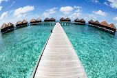 Maldives water bungalow