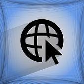 globe. Flat modern web design on a flat geometric abstract background