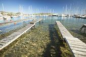 SYROS, GREECE - APR 30, 2014: Marina of Syros, is a Greek island in the Cyclades archipelago in the