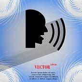 talking. Flat modern web design on a flat geometric abstract background